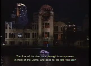Krzysztof Wodiczko's Projection on the A-Bomb Dome in Hiroshima, Japan