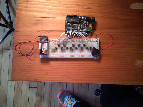 Arduino musical keyboard examples pcomp